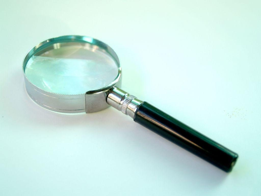 A magnifying glass, representing the need to examine what terms to include in your moving contract.