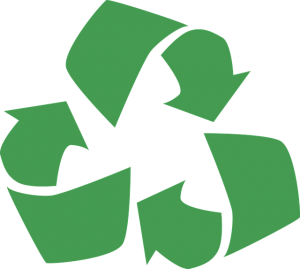 Recycle sign - there is no eco-friendly relocation without recycling.