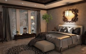 A luxurious bedroom.