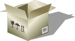 A box. - something our movers Bedford can provide you with.