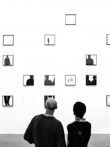 Photographs in a museum
