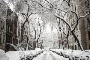 street under the snow
