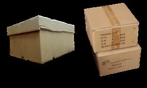 Three cardboard boxes.