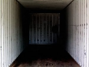 Inside of a mobile storage unit