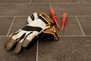Gloves and screwdrivers