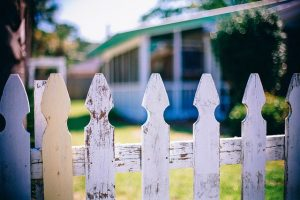 white picket fense