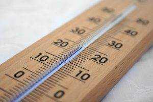 A celsius centigrade gauge glass