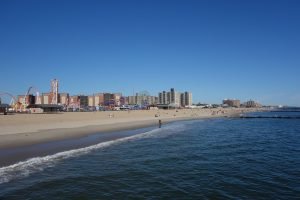 Coney Island Beach. This is a great place to swim in Brooklyn.