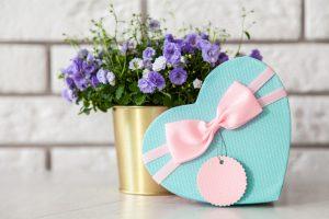A heart-shaped heart box