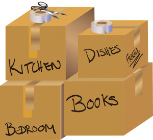 labelled boxes