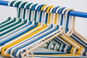 New row of hangers can easily create additional storage space in your home