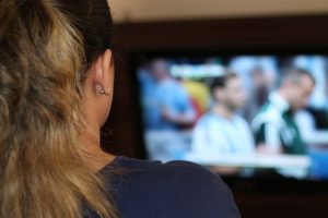 woman watching sports