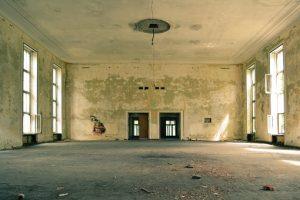 Permits for apartment renovation - empty big apartment